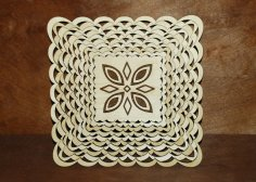 Laser Cut Wooden Tray Plate 4mm Birch Plywood Free Vector