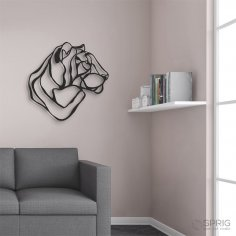Laser Cut Tiger Decor Wall Art Free Vector
