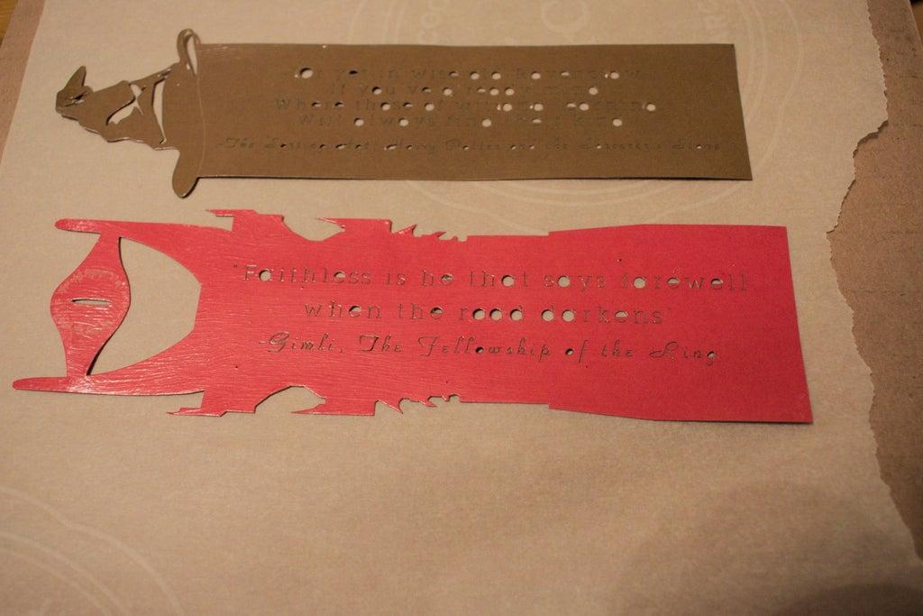 Laser Cut Harry Potter Sorting Hat Bookmark DXF File