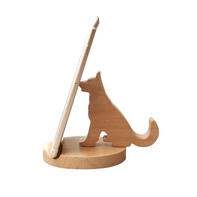 Laser Cut Cute Dog Phone Holder Animal Desk Phone Stand Free Vector