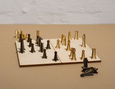 Laser Cut Wooden Chess Pieces DXF File