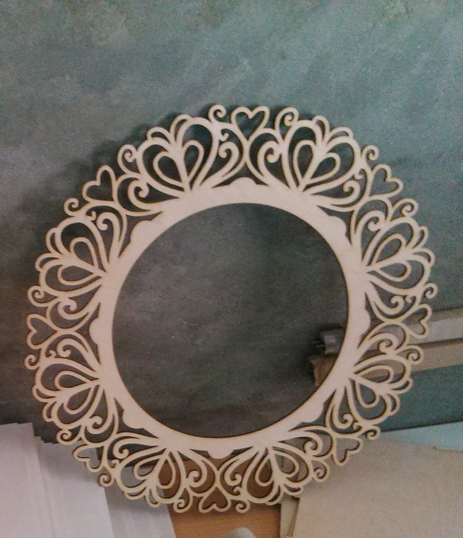 Laser Cut Decorative Round Frame Template Free Vector