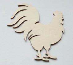 Laser Cut Wooden Rooster On Stand Free Vector