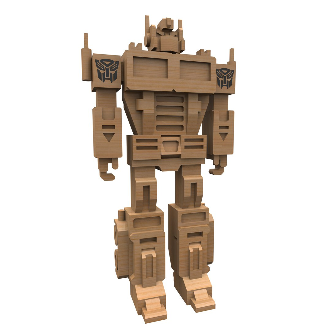 Laser Cut Optimus Prime 3mm DXF File