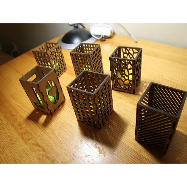 Laser Cut Tea Light Holder Candle Holder Free Vector