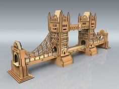 Laser Cut Tower Bridge Model Free Vector