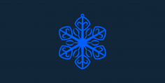 Snowflake design 5 stl file