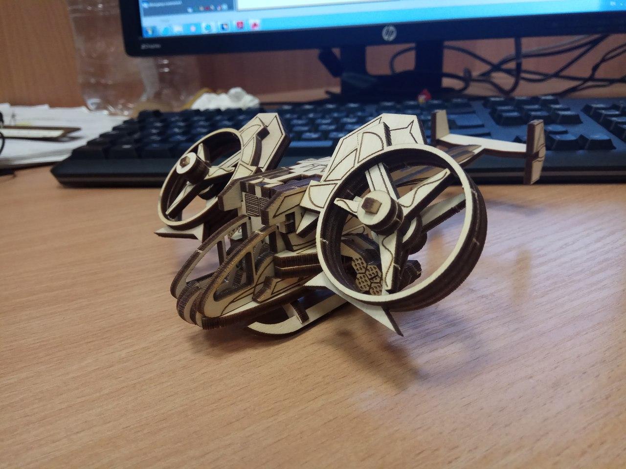 Laser Cut AT-99 Scorpion Gunship Free Vector