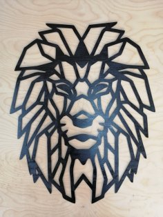 Laser Cut Lion Polygon Art Wall Decor Wall Art Decor 3D Sculpture DXF File