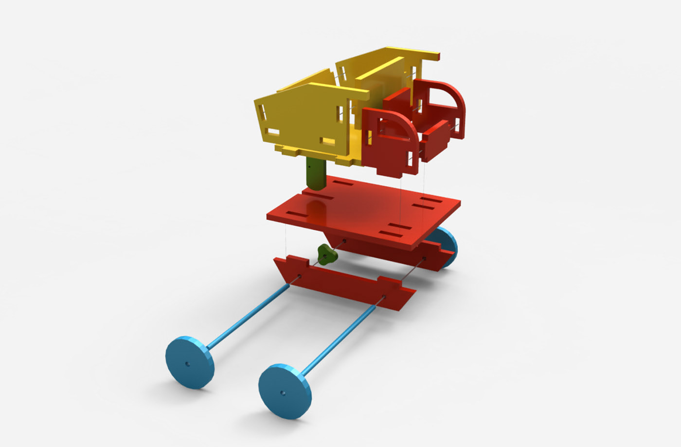 Laser Cut Kids Wooden Toy Truck Free Vector