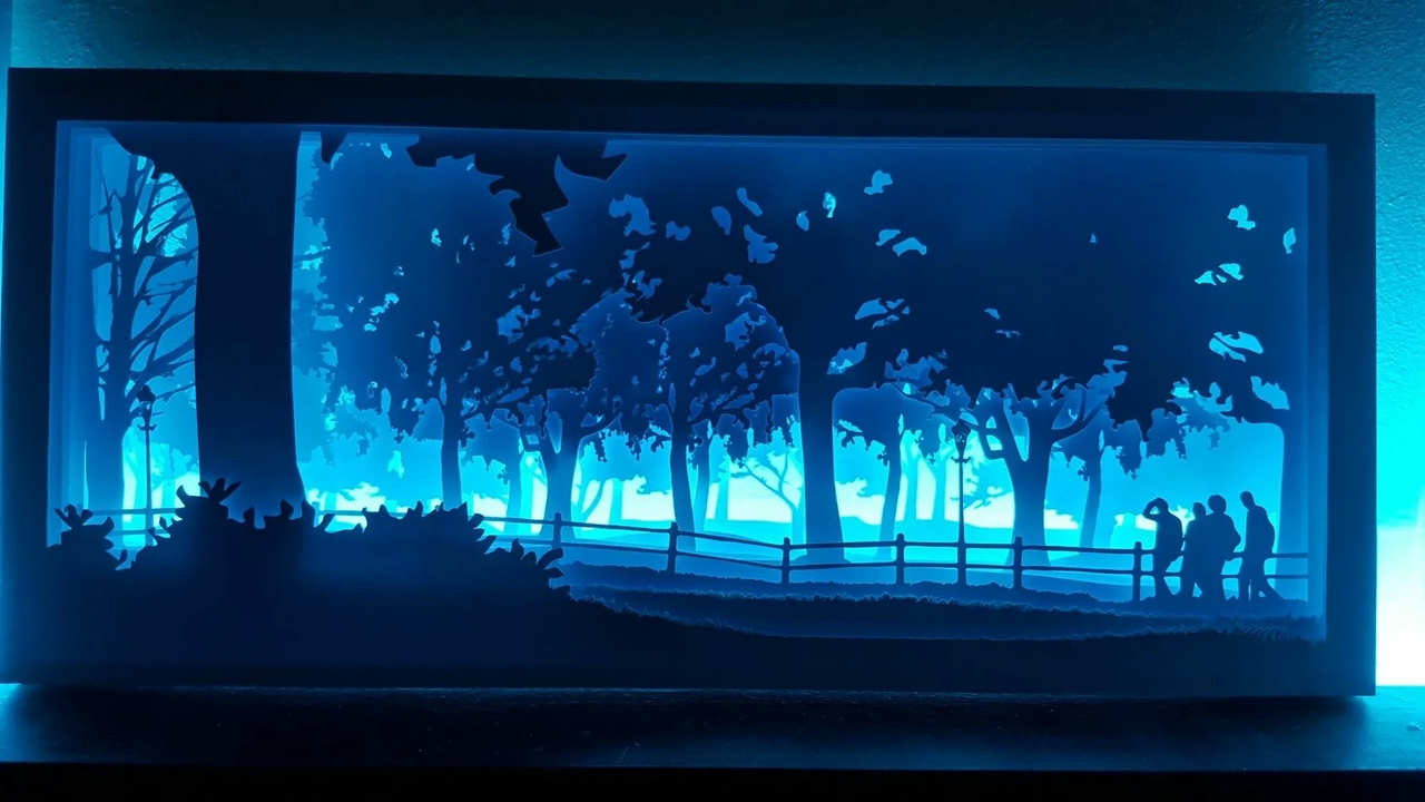 Laser Cut 3D Decorative Night Light Lamp Free Vector