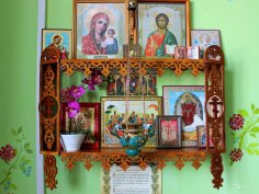Laser Cut Wooden Shelf For Icons Christian Home Altar Free Vector