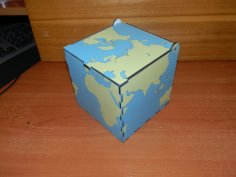 Laser Cut World Map Box DXF File