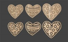 Laser Cut Valentine Day Magnets Free Vector