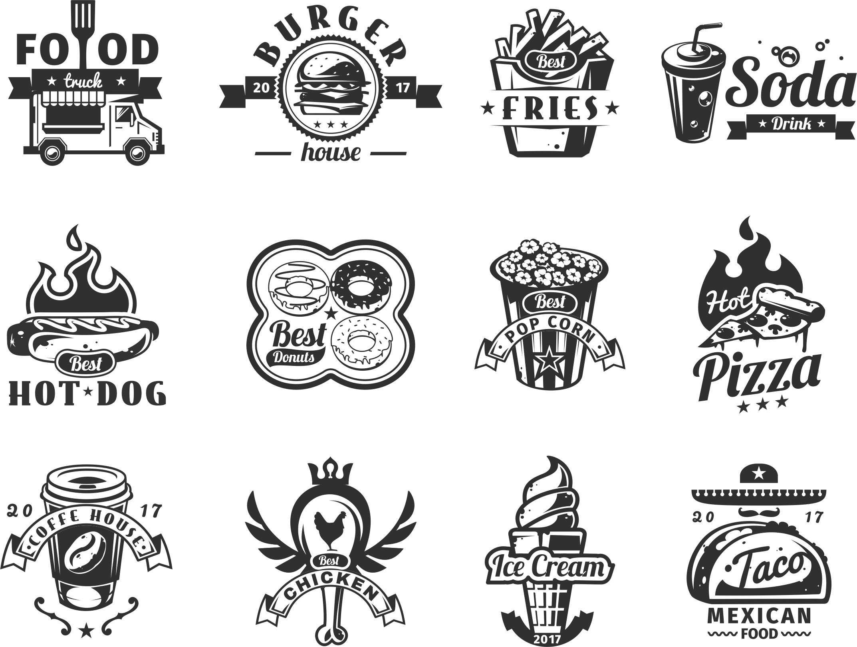Food Logo Set Free Vector