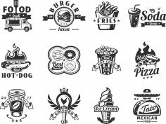 Food Logo Set Free Vector