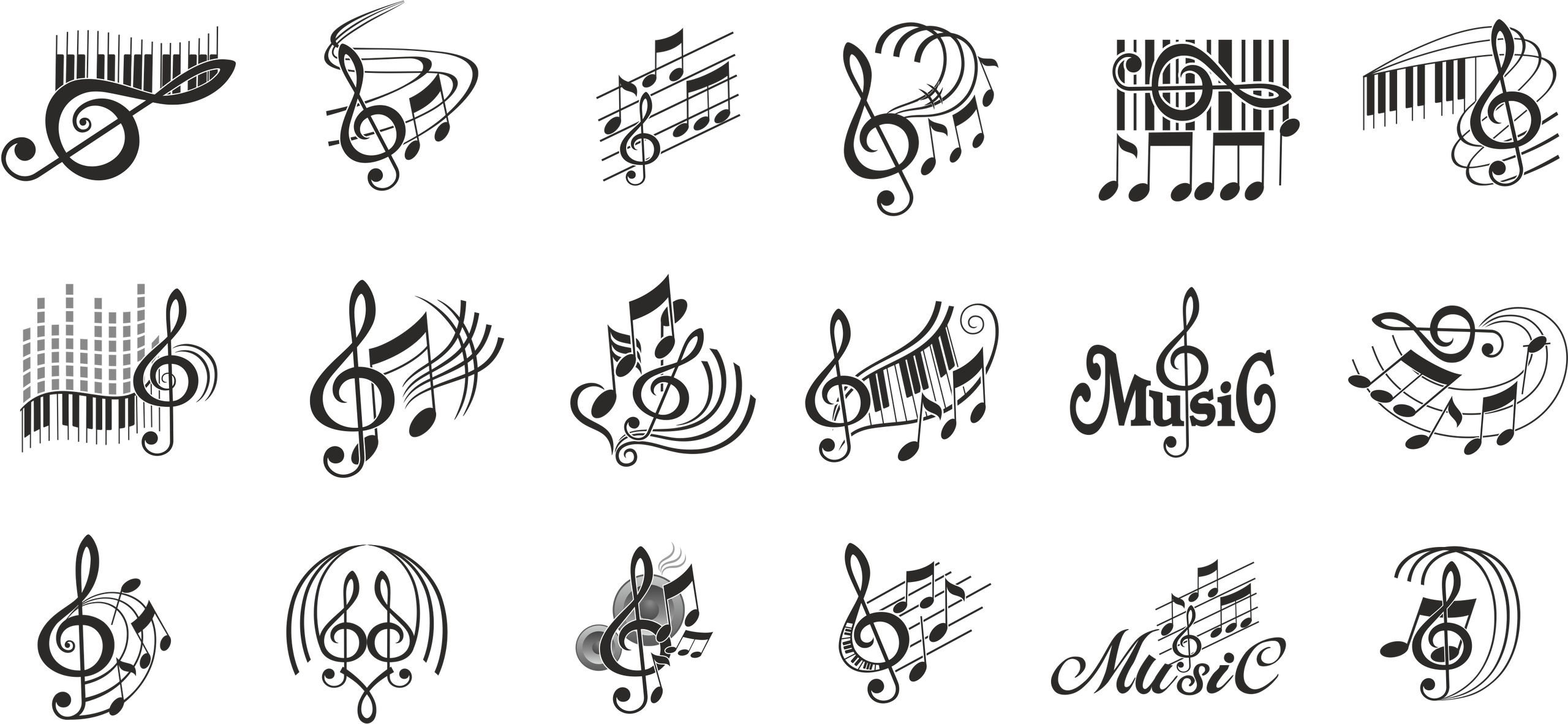 Note Music Vector Free Vector