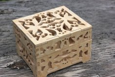 Laser Cut Chess Box 8mm DWG File