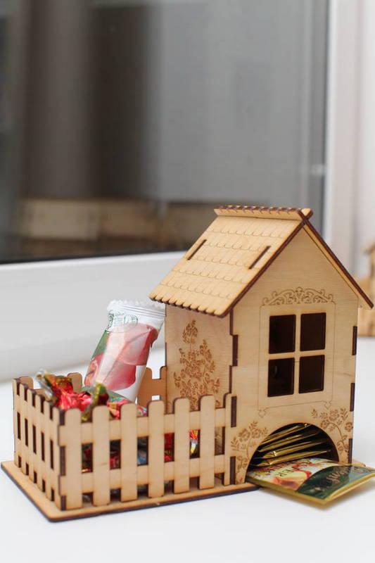 Laser Cut Decor Tea House Template Free Vector