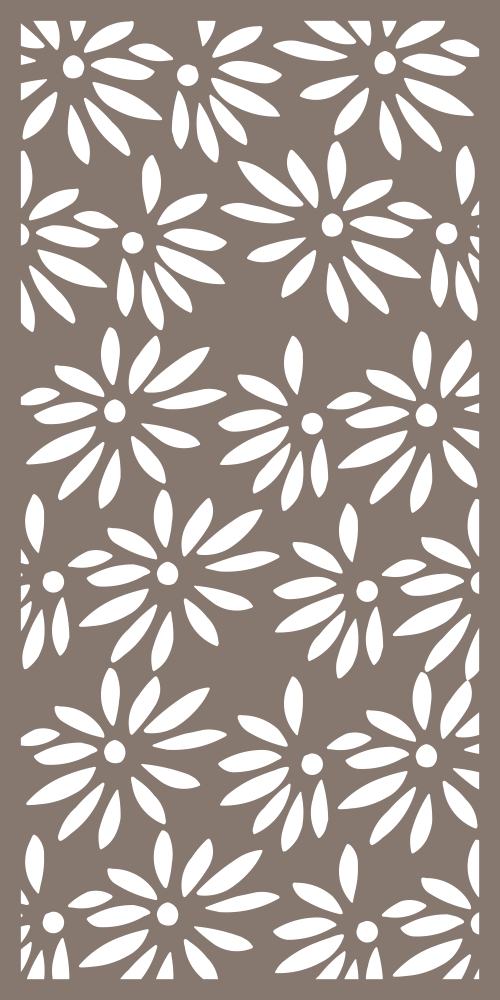 Decorative Privacy Panel Pattern Vector Free Vector
