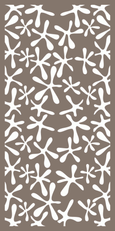 Abstract Flowers Screen Panel Pattern Vector Free Vector