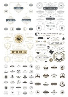Vintage Element Decor Free Vector