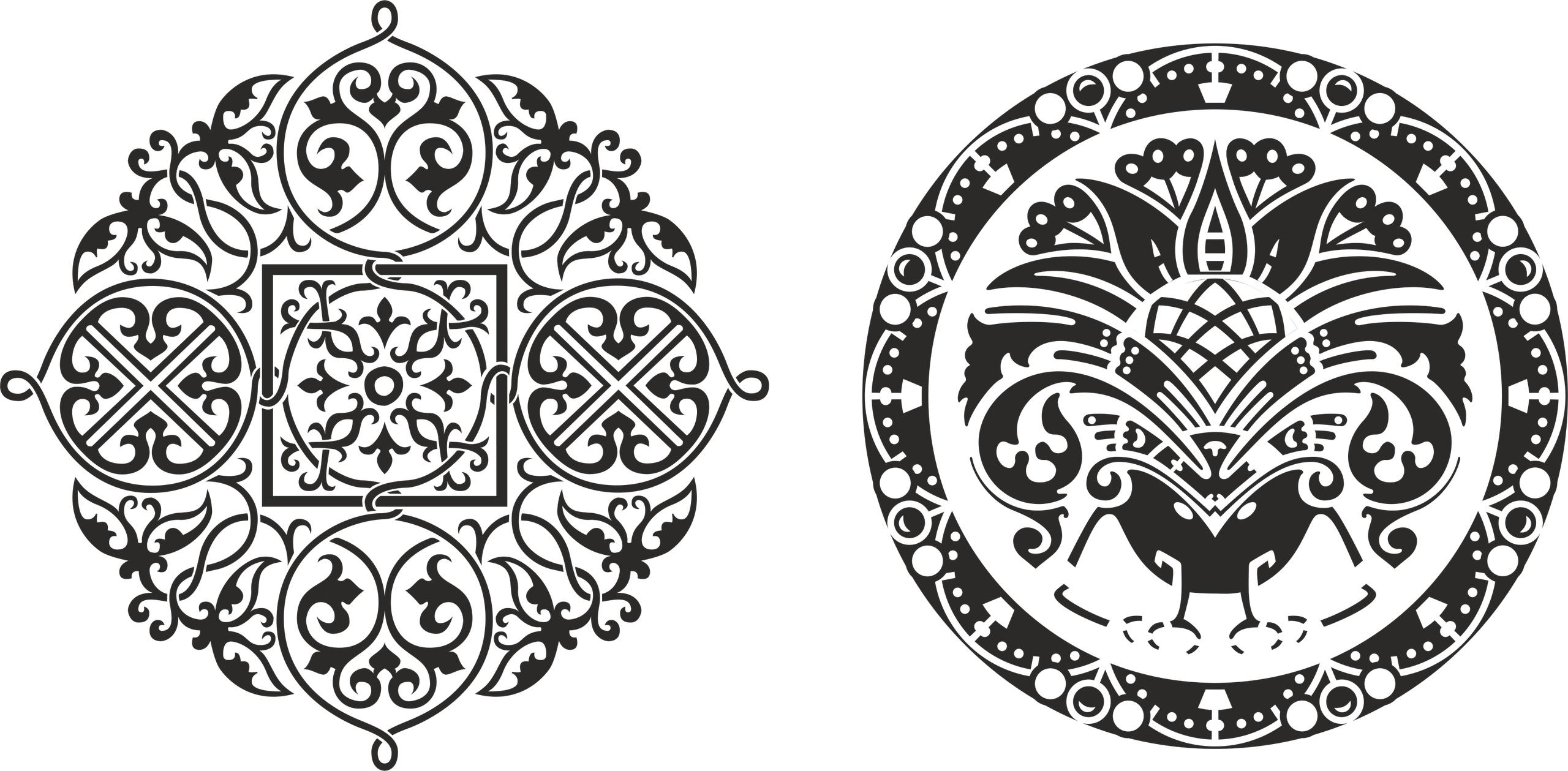 Ornamental Circkles Free Vector