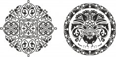 Ornamental Circkles Free Vector