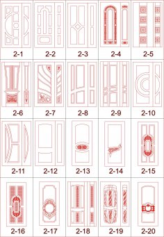 CNC Cutting Safety Door Designs Free Vector