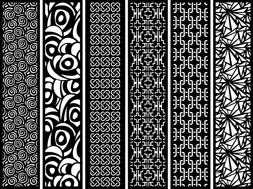 Laser Cut Screens Patterns Free Vector