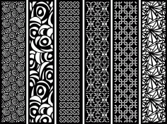 Laser Cut Screens Patterns Free Vector
