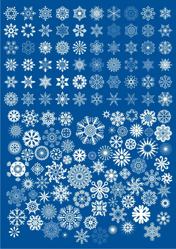 Stars And Snowflakes Vectors Free Vector