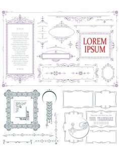 Vintage Decorative Elements Collection Free Vector