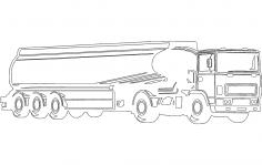 Fuel Tanker Truck DXF File
