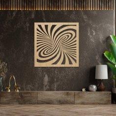 Laser Cut Optical Illusion Modern Wall Decor Free Vector