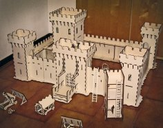 Laser Cut Castle Under Attack Kids Toys Free Vector