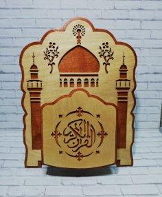 Laser Cut Decorative Quran Holder DXF File