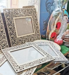 Laser Cut Wooden Decorative Frames Free Vector