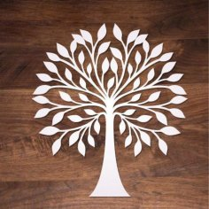 Laser Cut Wooden Tree Wall Decoration Free Vector