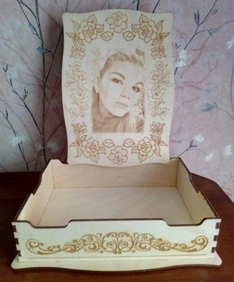 Laser Cut Decor Personalized Box With Engraving DWG File
