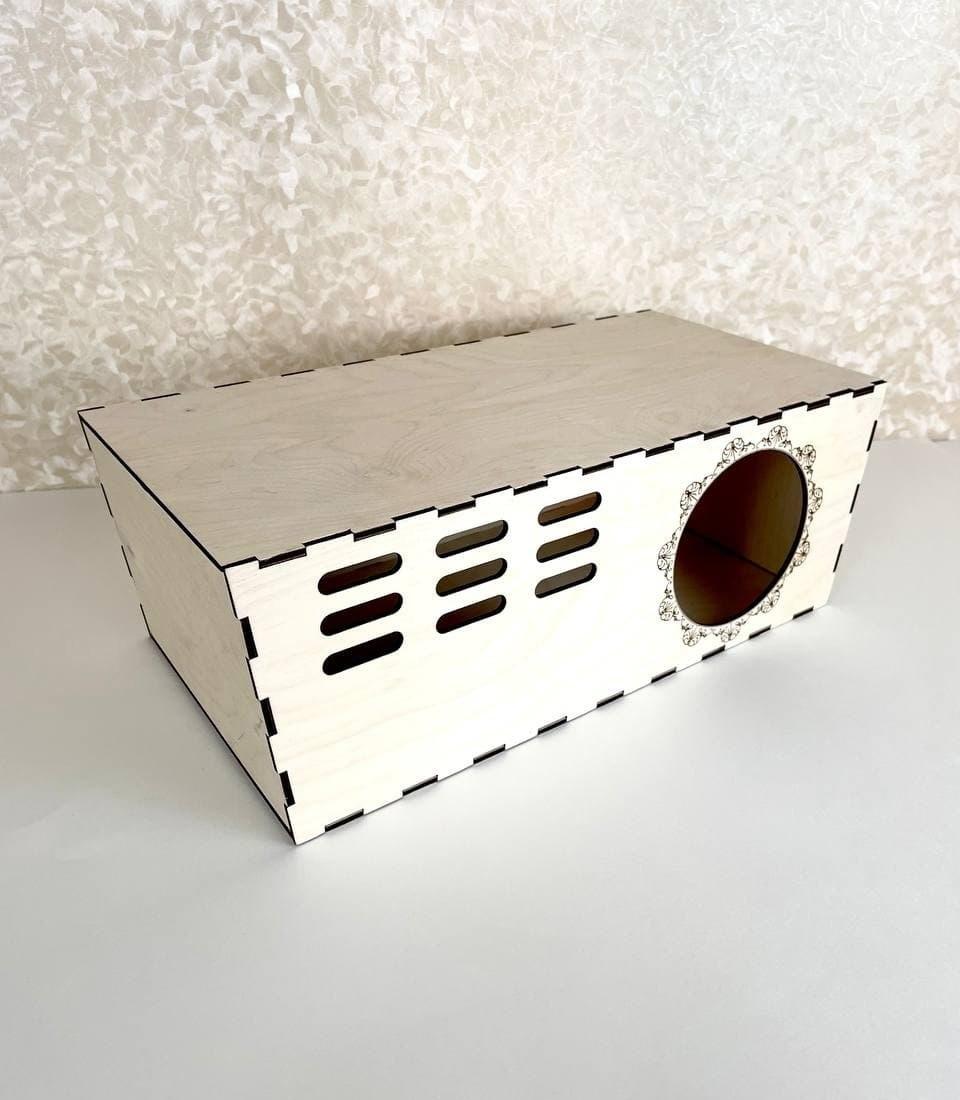Laser Cut Chinchilla Hut Hideout House Free Vector