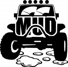 Mud Offroad Sticker Free Vector
