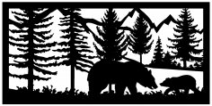 24 X 48 Bear Cub Mountains Plasma Art DXF File