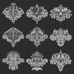 Set of Ornamental Elements Free Vector