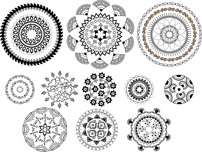 Classic Traditional Pattern Vector Free Vector