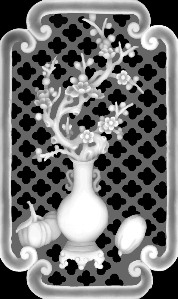 Vase Grayscale Image for CNC BMP File