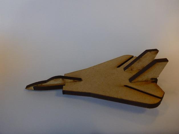 Lasercut Mini F14 Tomcat Fighter Aircraft DXF File