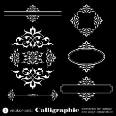 Calligraphic Elements For Design Free Vector