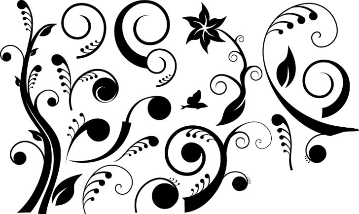 Dreamy Floral Curves Free Vector
