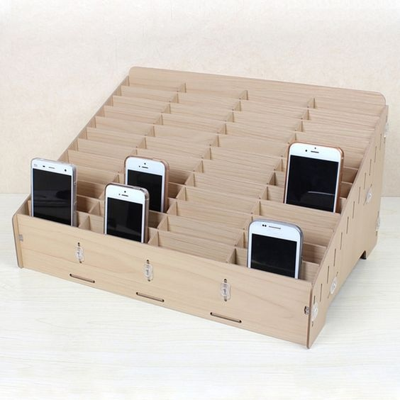 Mdf Mobile Phone Store Rack Laser Cut Free Vector